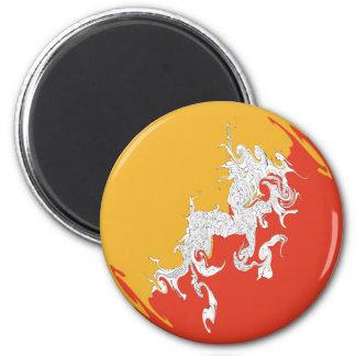 Gnarly Flagge Bhutans Kühlschrankmagnete