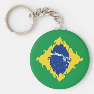 Gnarly Flagge Brasiliens Schlüsselband