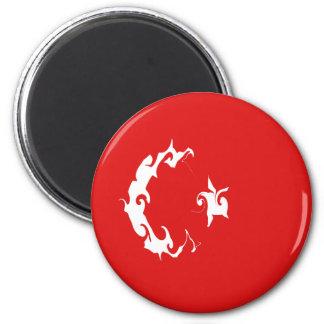 Gnarly Flagge der Türkei Magnete