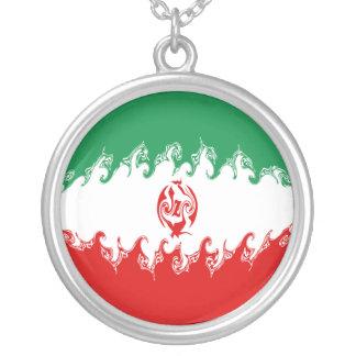Gnarly Flagge des Irans Halskette Mit Rundem Anhänger