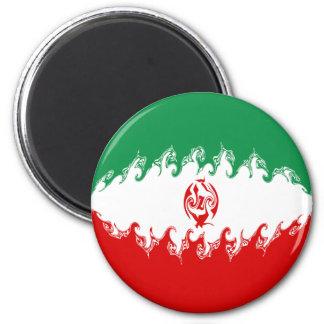 Gnarly Flagge des Irans Kühlschrankmagnete