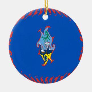 Gnarly Flagge Guams Rundes Keramik Ornament
