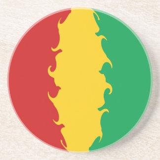 Gnarly Flagge Guinea-Conakrys Bierdeckel