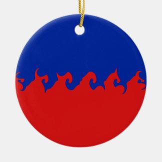 Gnarly Flagge Haitis Rundes Keramik Ornament