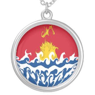 Gnarly Flagge Kiribatis Halskette Mit Rundem Anhänger