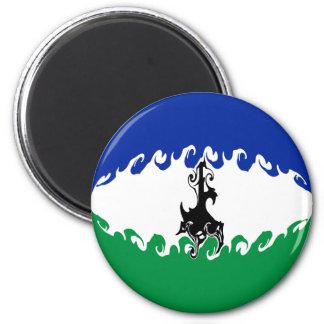 Gnarly Flagge Lesothos Kühlschrankmagnet