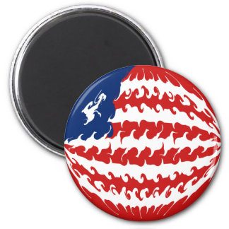 Gnarly Flagge Liberias Magnets