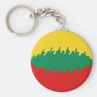 Gnarly Flagge Litauens Standard Runder Schlüsselanhänger