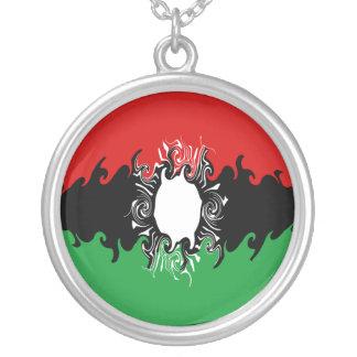 Gnarly Flagge Malawis Halskette Mit Rundem Anhänger