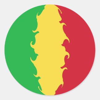 Gnarly Flagge Malis Runde Sticker