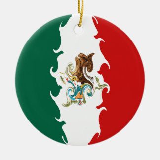 Gnarly Flagge Mexikos Rundes Keramik Ornament