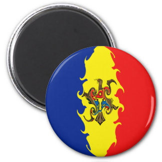 Gnarly Flagge Moldau Kühlschrankmagnet
