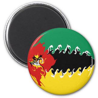Gnarly Flagge Mosambiks Kühlschrankmagnet