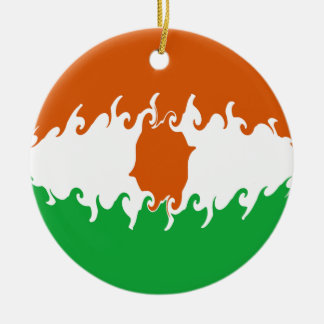 Gnarly Flagge Nigers Rundes Keramik Ornament