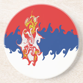 Gnarly Flagge Serbiens Getränkeuntersetzer