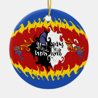 Gnarly Flagge Swasilands Rundes Keramik Ornament