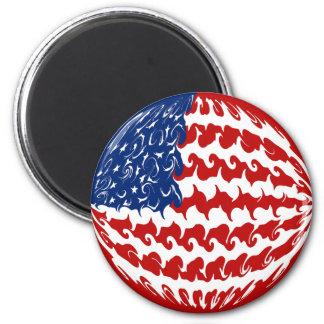 Gnarly Flagge Vereinigter Staaten Kühlschrankmagnet