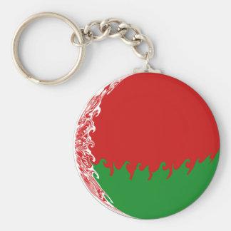 Gnarly Flagge Weißrusslands Standard Runder Schlüsselanhänger