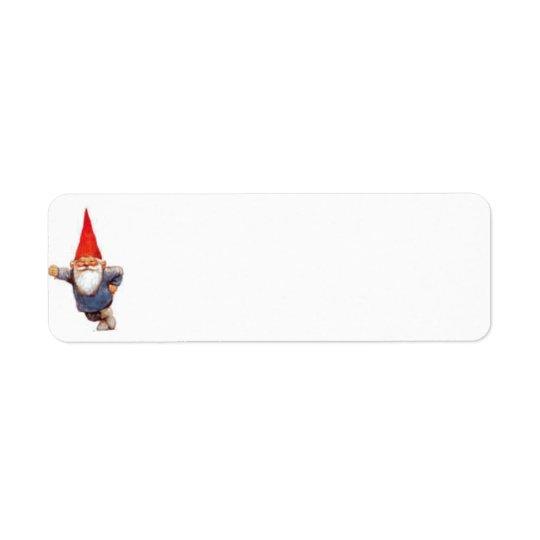 Gnome-Aufkleber Rücksende Aufkleber