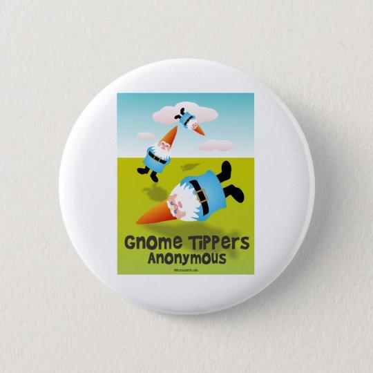 Gnome-Kipper anonym Runder Button 5,1 Cm