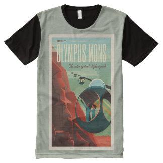 Go bereisend auf Mars T-Shirt Mit Bedruckbarer Vorderseite