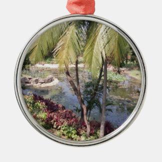 Goa Indien Garten Silbernes Ornament