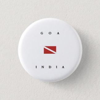 Goa Indien Unterwasseratemgerät-Tauchen-Flagge Runder Button 3,2 Cm