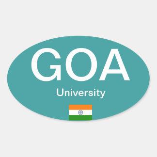 Goa University* (Indien) Euro-ähnlicher ovaler Ovaler Aufkleber