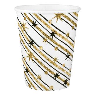 Gobelets En Papier Étoiles scintillantes d'or