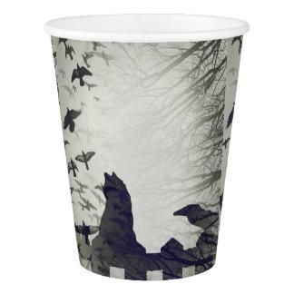 Gobelets En Papier Tasse de papier de chat noir