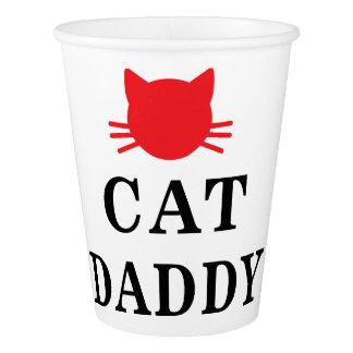 Gobelets En Papier Tasse de papier de papa de chat