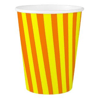 Gobelets En Papier Tasse de papier : Jaune et orange