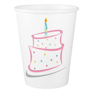 Gobelets En Papier Tasses de fête d'anniversaire