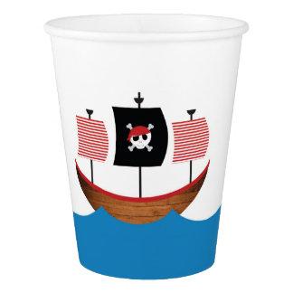 Gobelets En Papier Tasses de papier de pirate