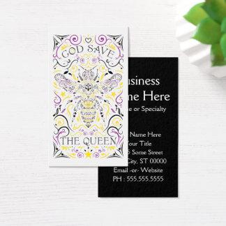 God Save the Queen Biene Visitenkarte