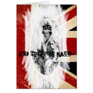 God Save the Queen Punk/Schmutz Karte