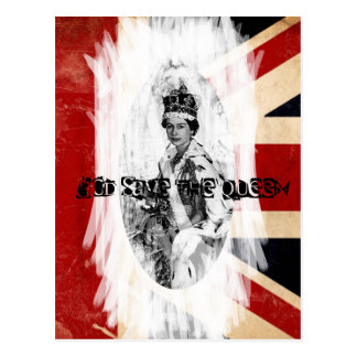 God Save the Queen Punk/Schmutz Postkarte
