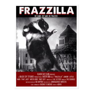 Godzilla Katzen-Postkarte Postkarte