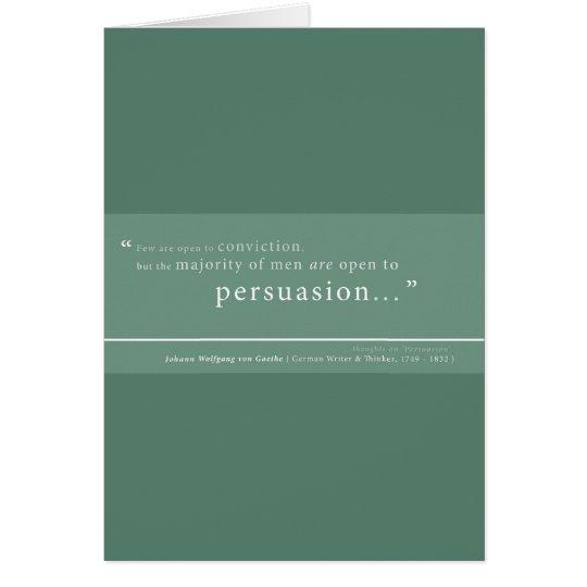 Goethe auf 'Persuasion Karte