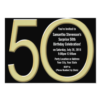 Gold50. Geburtstag/-Party Einladung