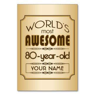 Gold80. Geburtstags-Feier-Welt gut fabelhaft Karte