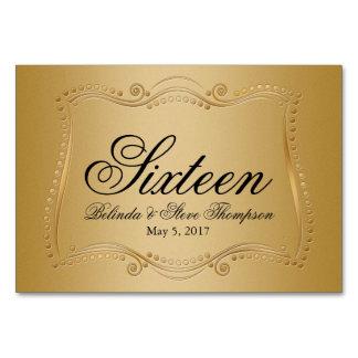 Gold auf Goldverzierter Eleganz-Hochzeits-Sammlung Karte