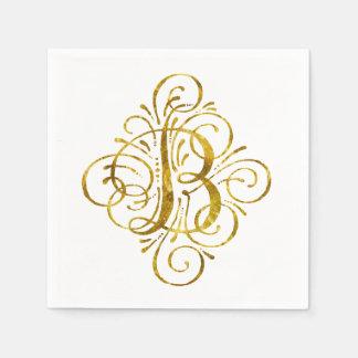 """Gold"" Blick Anfangsb Papierserviette"