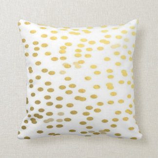 Gold Confetti Polka Dot Holiday Nursery Pillow Kissen