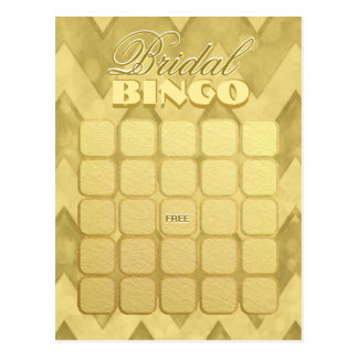 Gold des Brautparty-Bingo-| Zickzack Postkarte