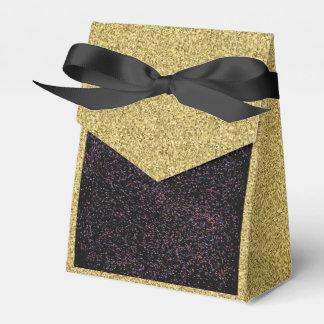 Gold Flecked mit schwarzem gesprenkeltem Geschenkschachtel