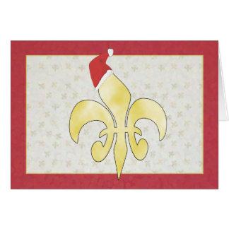 Gold Fleur de Lys mit Karte