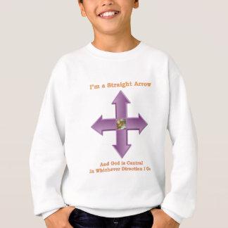 Gold gerader Pfeil Gottes w u. lila Text Sweatshirt