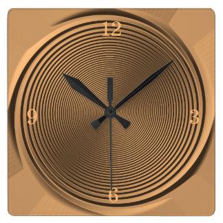 Gold/Schwarz-Strudel-Entwurf >Wall Uhr Quadratische Wanduhr