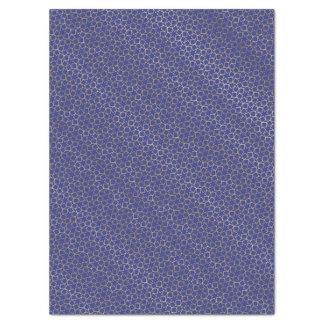 Gold spielt Seidenpapier Arabeske-Muster-Blau die